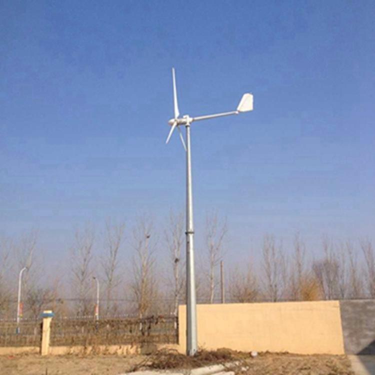 供应5000W小型风力发电机 新疆内蒙古监控设备供电 5KW风力发电机组