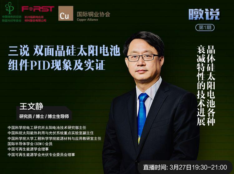 """第三说 """"双面晶硅太阳电池组件PID衰减及实证"""""""