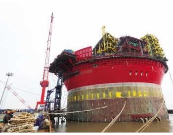"""海上石油工厂""""希望6号""""完成吊装 将进入工程扫尾阶段"""