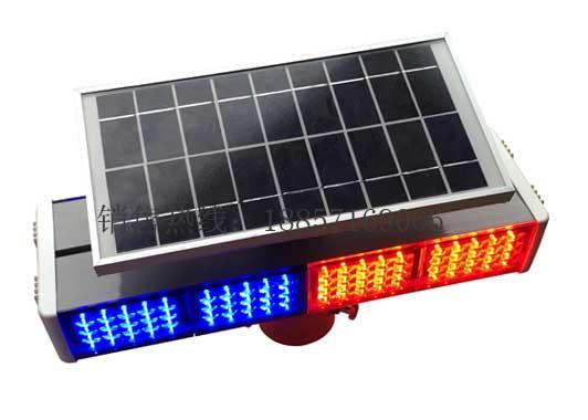 太阳能警示灯 led爆闪灯 双面警示灯 四格警示灯