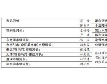 北京市总河长由蔡奇<em>陈吉宁</em>担任,永定河等五河流设立市级河长