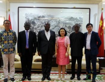 駐加納大使孫保紅邀請加納能源部長到官邸作客