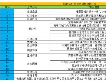 11月<em>水务市场</em>:中标金额逾155亿,农水项目占据半壁江山