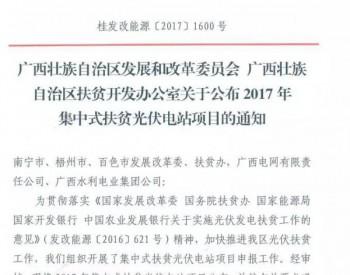 广西公布2017年集中式扶贫光伏电站项目 共计86MW