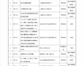 关于2017年第10批新<em>化学物质</em>环境管理登记证常规申报审查情况的公示