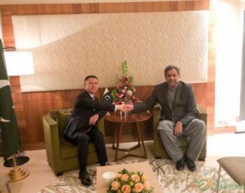 巴基斯坦总理与高纪凡握手:欢迎天合光能尽早进入巴基斯坦市场