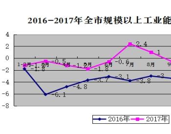 2017年河南济源市规模以上<em>工业</em>企业累计综合能源消费量同比下降3.8%