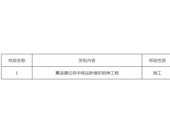 招标 | 常州武进区嘉泽镇<em>垃圾中转站</em>新增彩钢房工程招标公告