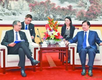 王宜林与印度石油公司董事长<em>桑吉</em>夫·辛格举行会谈