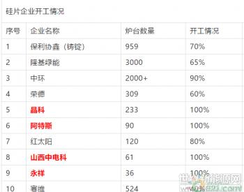 531光伏新政后,<em>硅片企业</em>开工率如何?