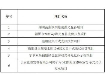 <em>湖南</em>省2017年集中式光伏扶贫电站建设规模增补项目公示