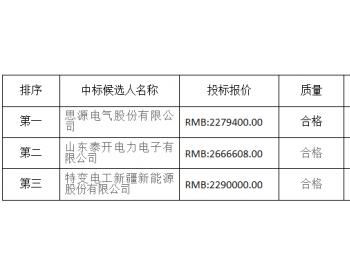 中标|中广核新能源上饶横峰麒麟峰风电场项目动态无功补偿成套装置设备采购
