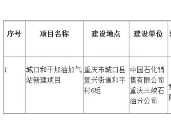重庆市城口县和平加油加气站项目竣工环境保护验收报告