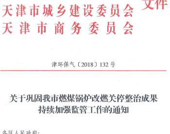 关于巩固天津市燃煤锅炉改燃关停整治成果持续加强监管工作的通知