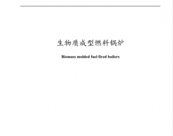 国家<em>生物质成型燃料</em>锅炉行业标准