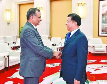 王宜林会见印度石油公司董事长<em>桑吉</em>夫·辛格一行