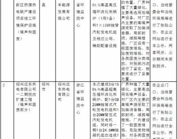 常山县辉埠新区燃煤热电联产建设项目等两个项目(非核与辐射)环境保护设施竣工验收...