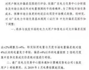 1月起实施,广东用户侧<em>偏差考核</em>调整至±4%