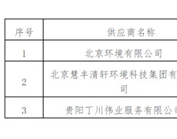 贵州远县<em>城乡环卫项目</em>预中标公示 北京环境排第一