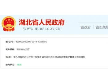 """647个乡镇污水厂今年要全部投运 湖北怎么严防""""晒太阳"""""""