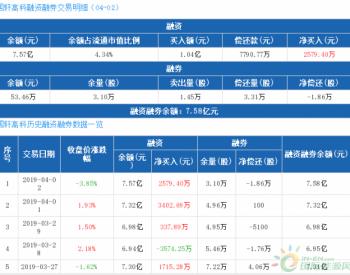 国轩高科:连续3日融资净买入累计6319.98万元(04-02)