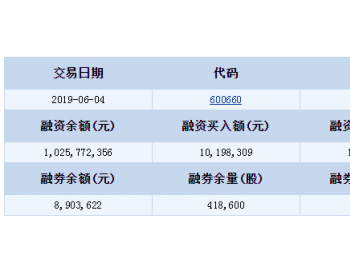 <em>福耀玻璃</em>融资融券信息(06-04)
