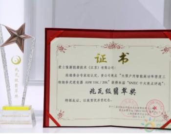 SNEC | 爱士惟获SNEC2019十大亮点奖