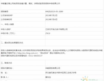 中标|华能灌云海上风电项目定值计算、调试、涉网试验项目招标中标结果公示