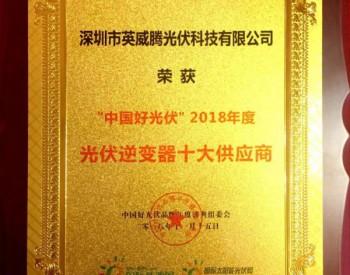 殊荣至 | <em>英威腾光伏</em>获评2018年度光伏逆变器十大供应商