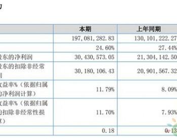 <em>凯添燃气</em>2019上半年盈利同比涨42.84%至3044万元