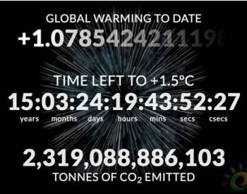 <em>气候</em>时钟:我们距离突破1.5摄氏度温升还有多少年?