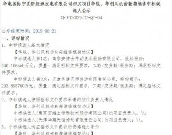 中标 南京<em>安维士</em>中标华电国际宁夏新能源发电有限公司相关项目工程