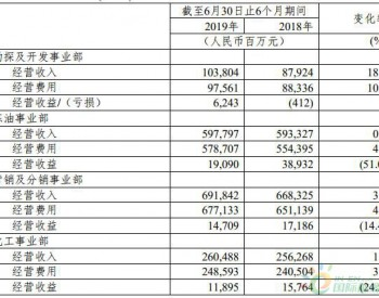 中国石化上半年炼油化工板块收益双降 行业估值处于历史低位