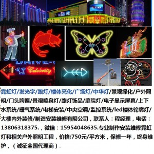 天津市霓虹灯13806318375/发光字/路灯/楼体亮化