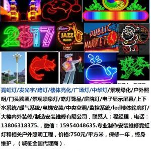 常州市霓虹灯13806318375/发光字/路灯/楼体亮化