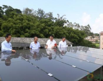 广西黄龙村扶贫光伏发电项目正式并网发电
