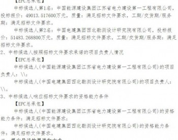 中标|<em>新疆</em>木垒大石头200MW和老君庙100MW风电项目EPC总承包中标候选人公示