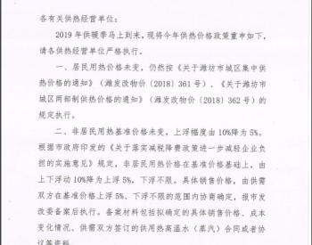 潍坊市发改委关于严格执行供热价格政策的通知