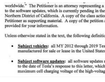 监管机构就电池问题向特斯拉展开调查 不接受调查最高罚一亿美金