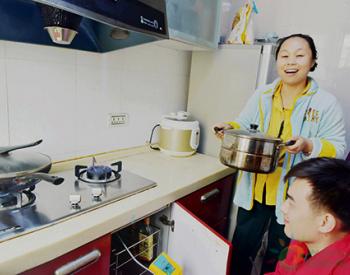 安徽淮南:居民用上标准天然气