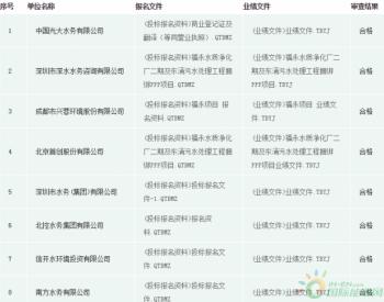 8个<em>水务</em>名企入围广东两座污水厂建设运营PPP项目