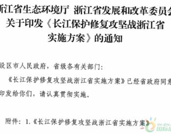 一张图秒懂《<em>长江保护修复</em>攻坚战浙江省实施方案》