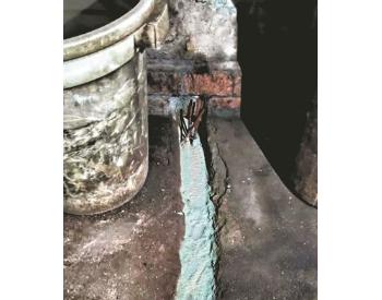 广州两家无证照<em>排污企业</em>直排蓝色废水被查处,两人被刑拘