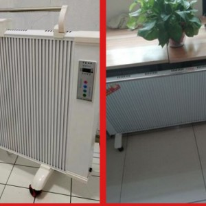 电采暖炉 家用壁挂式 落地式电暖炉 碳纤维取暖器 墙暖画