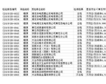 湖北黄石商品煤<em>质量</em>抽检:12家用煤单位17批次<em>产品</em>不符合要求