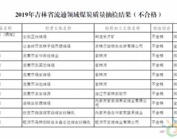 吉林省市场监督管理厅:10批次煤炭质量<em>抽检</em>不合格