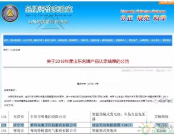 """<em>新风光公司</em>荣获""""山东名牌""""产品称号"""