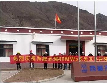 西藏齐耀农光互补光伏发电项目并网发电