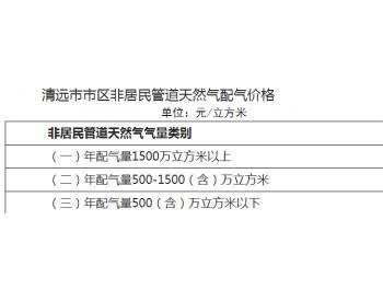 广东省清远市发展和改革局关于制定清远市市区 非居民管道天然