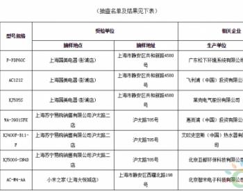 上海市<em>静安</em>区:抽检空气净化器全部合格